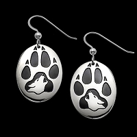 Wolf Print Earrings