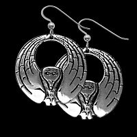 Round Raven Earrings