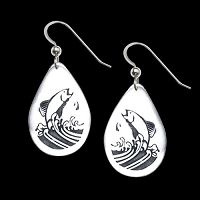 Jumping Salmon Earrings