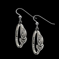 Orca Hoop Earrings