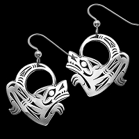 Dancing Wolf Earrings