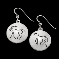 Wolftown Horse Earrings