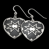 Four Corner Star Earrings