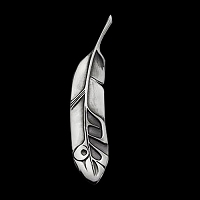 Eagle Feather Lg Pendant