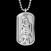 Salish Salmon Dog Tag