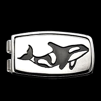 Killer Whale Money Clip