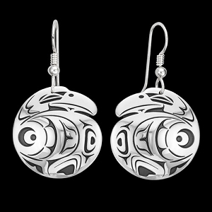 Raven Ellipse Earrings