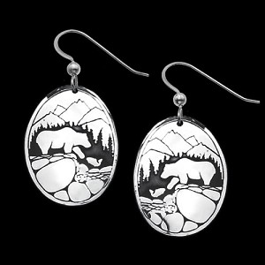 Fishing Bears Earrings