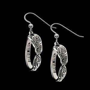 Wolf Hoop Earrings