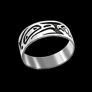 Lovebirds 8mm Ring Band