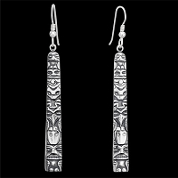 Tongass Totem Lg Earrings