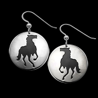 Horse Shadows Earrings
