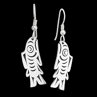 Salish Salmon Earrings