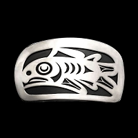 Salmon Med Belt Buckle