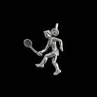 Tennis Player Charm