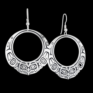 Raven Hoop Earrings